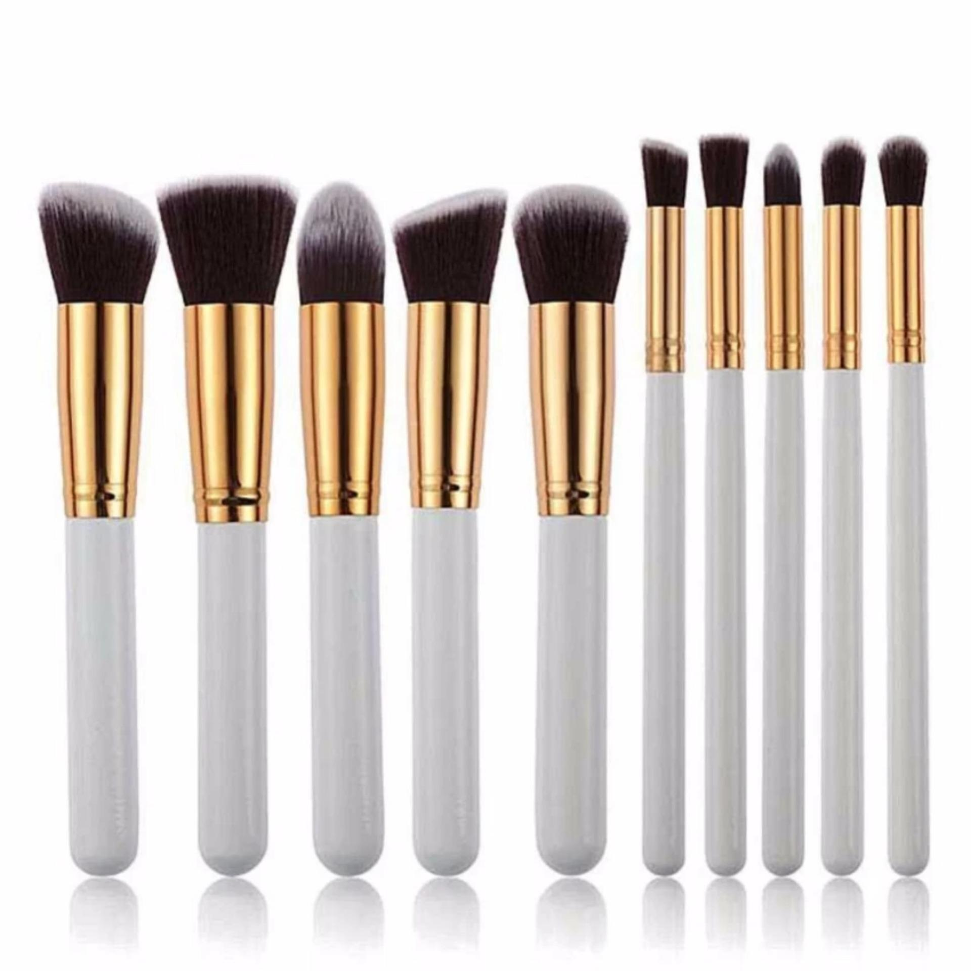 Diskon Kuas Make Up Makeup Brush Putih Set 10 Pcs Jawa Barat
