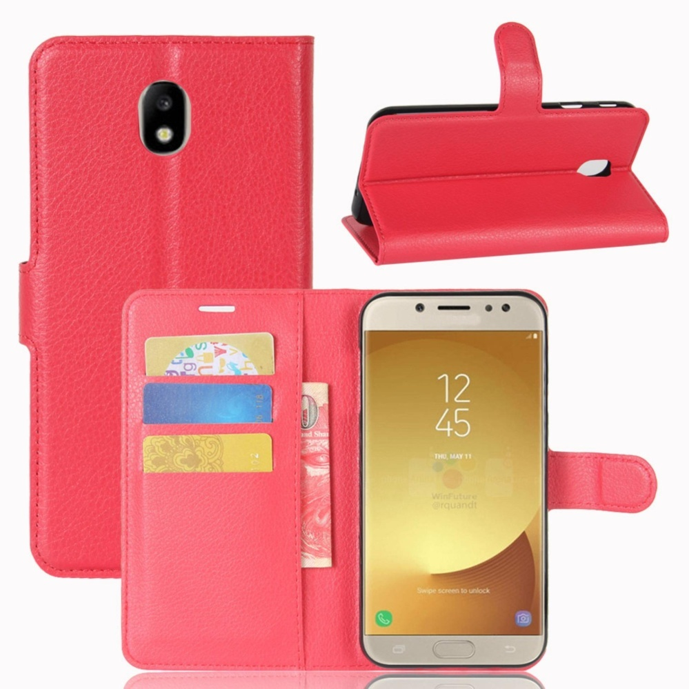 Harga Kulit Flip Penutup Ponsel Case Dompet Card Holder Untuk Samsung Galaxy J7 Pro J7 2017 J730 Intl Asli