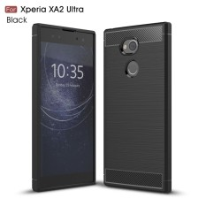 Kunpon for Sony Xperia XA2 Ultra Case Rugged Armor with Resilient Shock Absorption and Carbon Fiber TPU Non-Slip Anti-Scratch Ultra Slim Cover Case for Sony Xperia XA2 Ultra - Matte Black - intl
