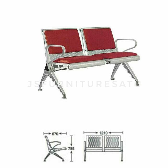 Kursi tunggu /waiting chair PS VERCO-2F - Indachi