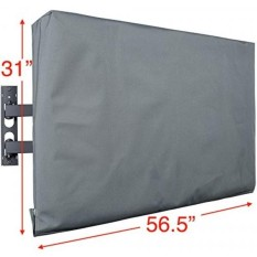 Kuzy - TV Cover 55, Display Weatherproof Outdoor TV Cover Protector for Flat Screen up to 55-inch - Fits Most TV Mounts, LCD, LED, Plasma Screens, Made in USA - GRAY - intl