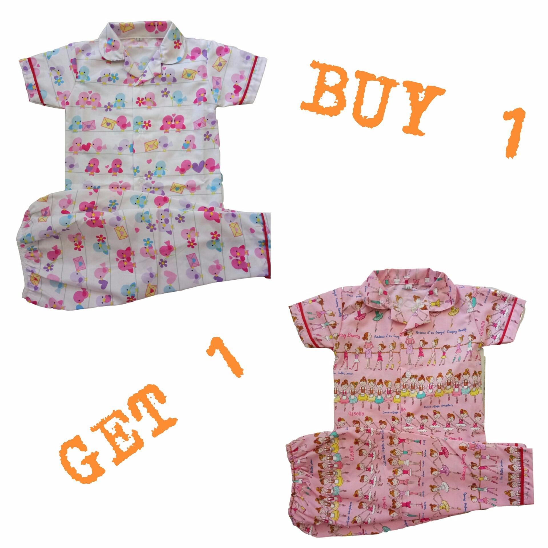 Kya Toys BUY 1 GET 1 Free Piyama Katun Anak Perempuan 1-16 tahun