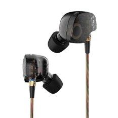 Kz Ate 3 5Mm Di Ear Earphone Hifi Logam Stereo Sport Headphone Super Bass Noise Mengisolasi Foam Eartips Hitam Intl Kz Murah Di Tiongkok