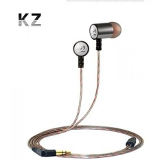 KZ ED3 KZ-ED3 High-End Acme Silver Grade Kebisingan Membatalkan Penggemar Bass Musik HIFI DJ Monitor Studio Sports Metal 3.5mm Stereo Earphone Headphone Earbud untuk IPhone 5 S 6 Samsung HTC MP3 MP4 DVD Musik Player-Intl