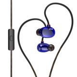 Jual Kz Zs2 Hi Fi Stereo Logam In Ear Wired Earphone Biru Dengan Mic Intl Grosir