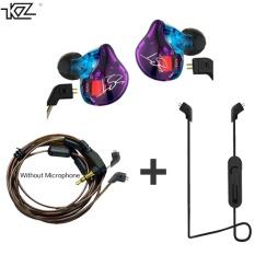 Promo Toko Kz Zst Earphone Hibrida Bluetooth Kawat Dynamic Drive Hi Fi Bass Earphone For Sport Musik Ponsel Pintar