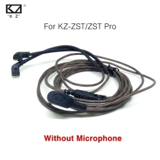 KZ ZST/ZST Pro Kabel Khusus 0.75mm 2-Pin Kabel Yang Ditingkatkan Ganti Kabel 2 PIN Kabel Upgrade Ues untuk KZ ZST/ZST Pro Tanpa MIC-Intl