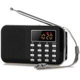 Jual L 218 Mini Digital Lcd Mp3 Radio Speaker Player Hitam Branded Murah