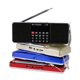 L 288 Portable Fm Radio Stereo Speaker Mp3 Musik Player Double Loudspeaker Dengan Tf Card Usb Disk Input Hadiah Untuk Orang Tua Intl Asli