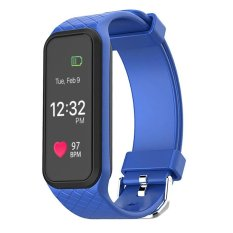 Jual L38I Bluetooth Gelang Pintar Gelang Dinamis Denyut Jantung Full Color Screen Pedometer Kebugaran Tracker Smart Watch Alarm Clock Intl Tiongkok Murah
