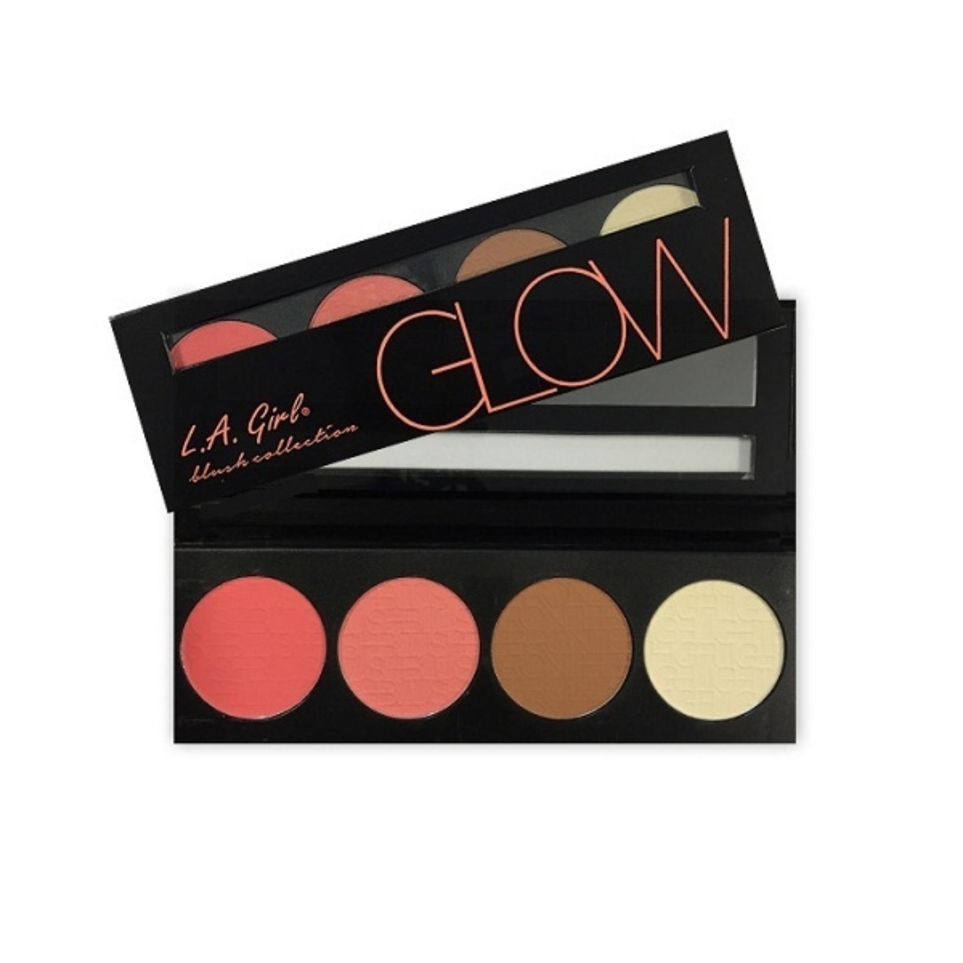 LA Girl Beauty Brick Blush Glow - Blush On, Bronzer, Highlighter, Contour, Warna Alami