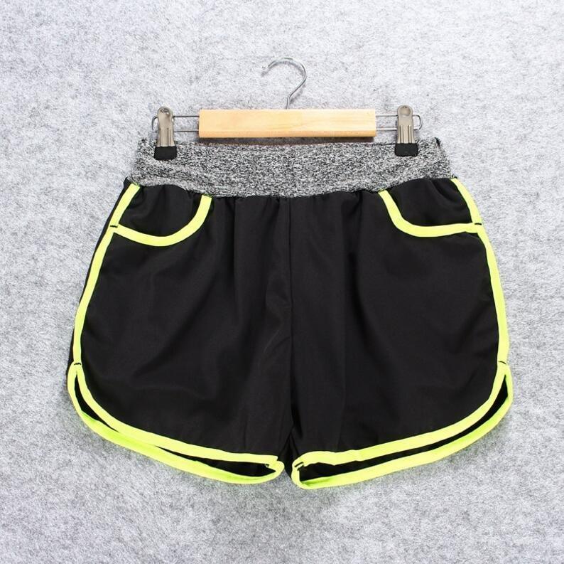 Ladies Musim Panas Cepat Kering Yoga Menjalankan Fitness Shorts (Hijau)-Intl
