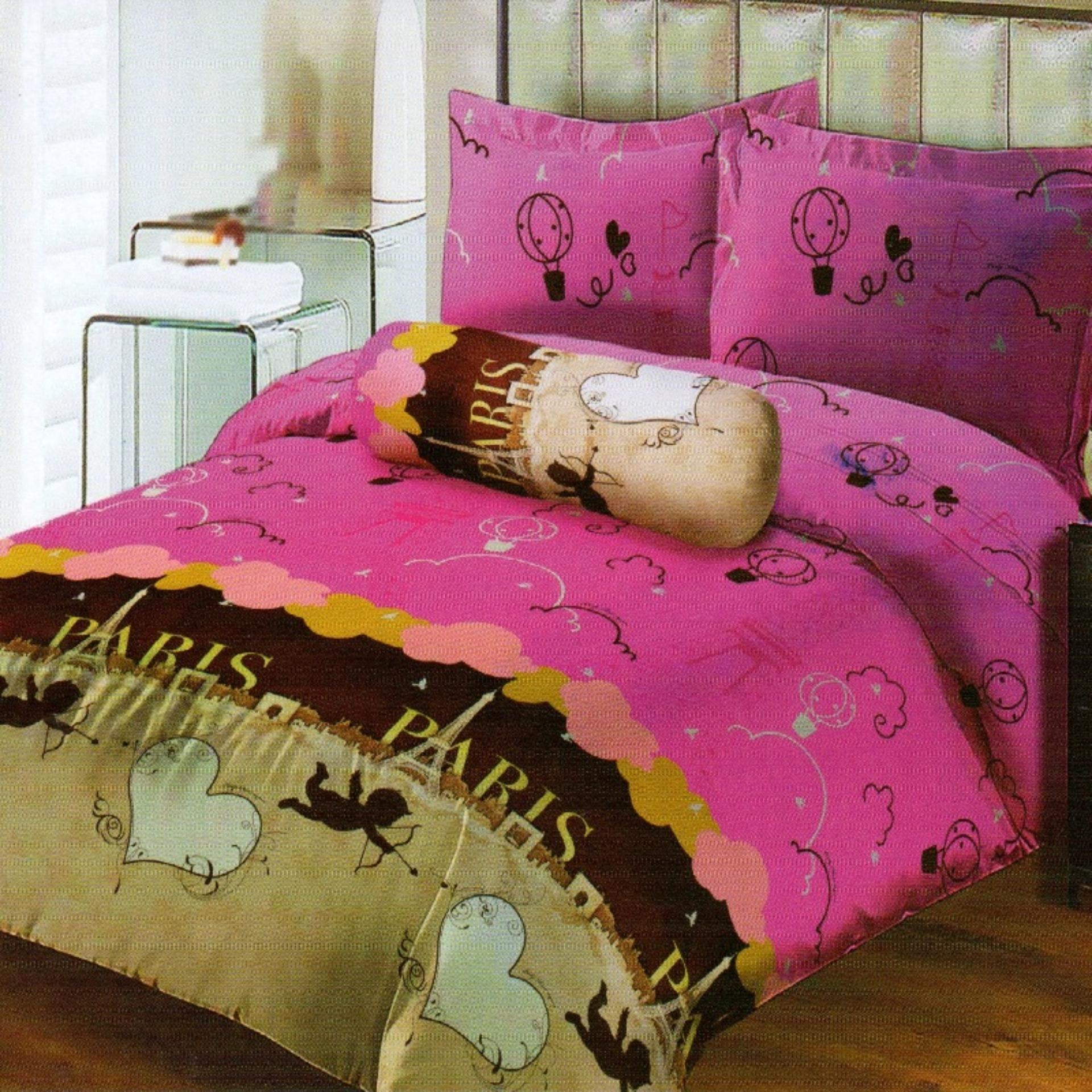 Harga Lady Rose Sprei Queen Motif Love In Paris 160X200 Cm Satu Set
