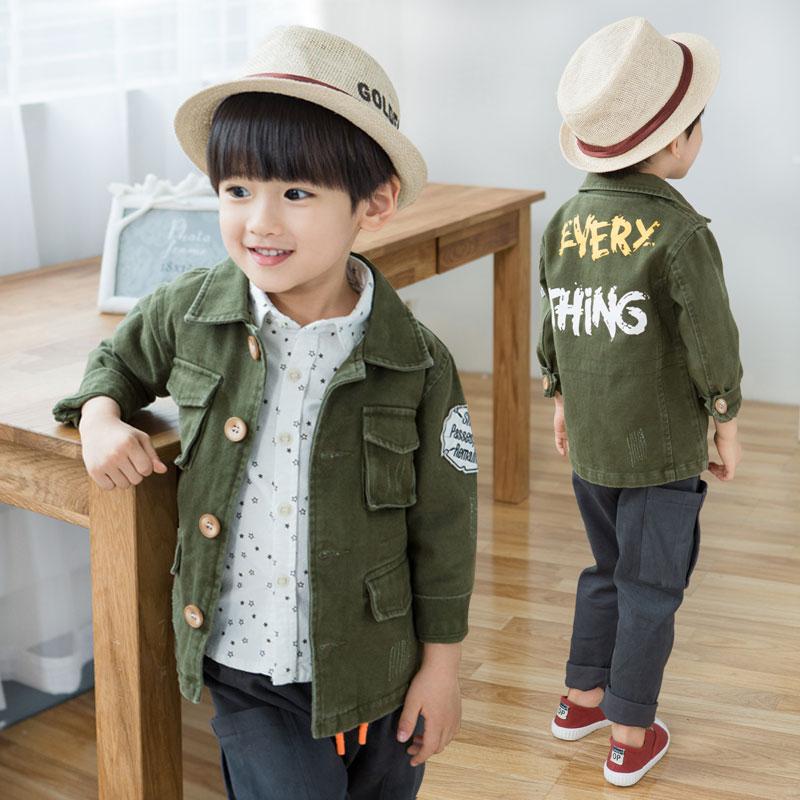 Jual Laki Laki Yang Baru Dan Anak Anak Bayi Mantel Anak Laki Laki Jaket Hijau Tentara Import