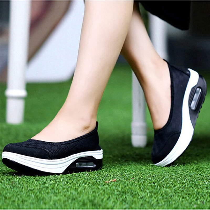 Jual Beli Online Lalang New Style Fashion Women S Shake Shoes Casual Fitness Shoes Black Intl