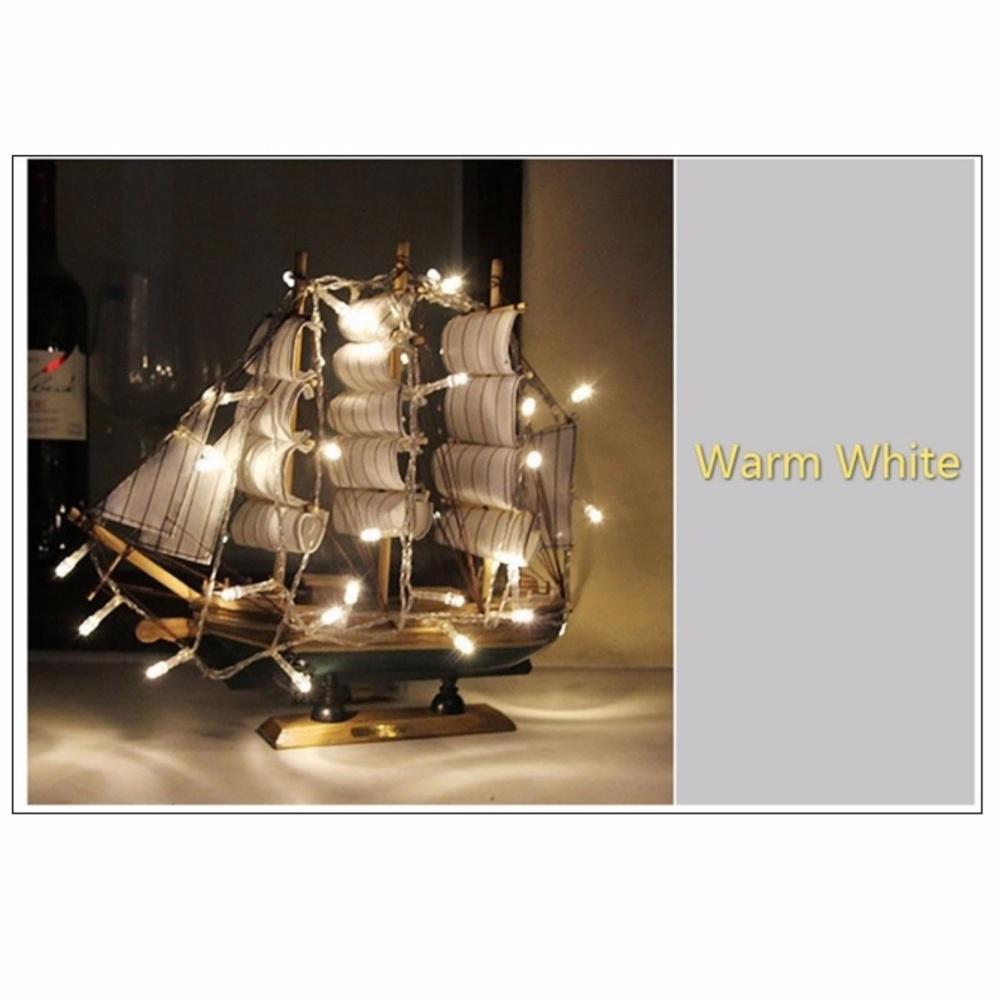 Lampu Hias Led Natal Baterai A2 4 Meter 40 Biru Lazada Indonesia Warm White