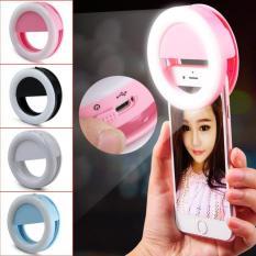 Lampu LeD selfi ring light jepit