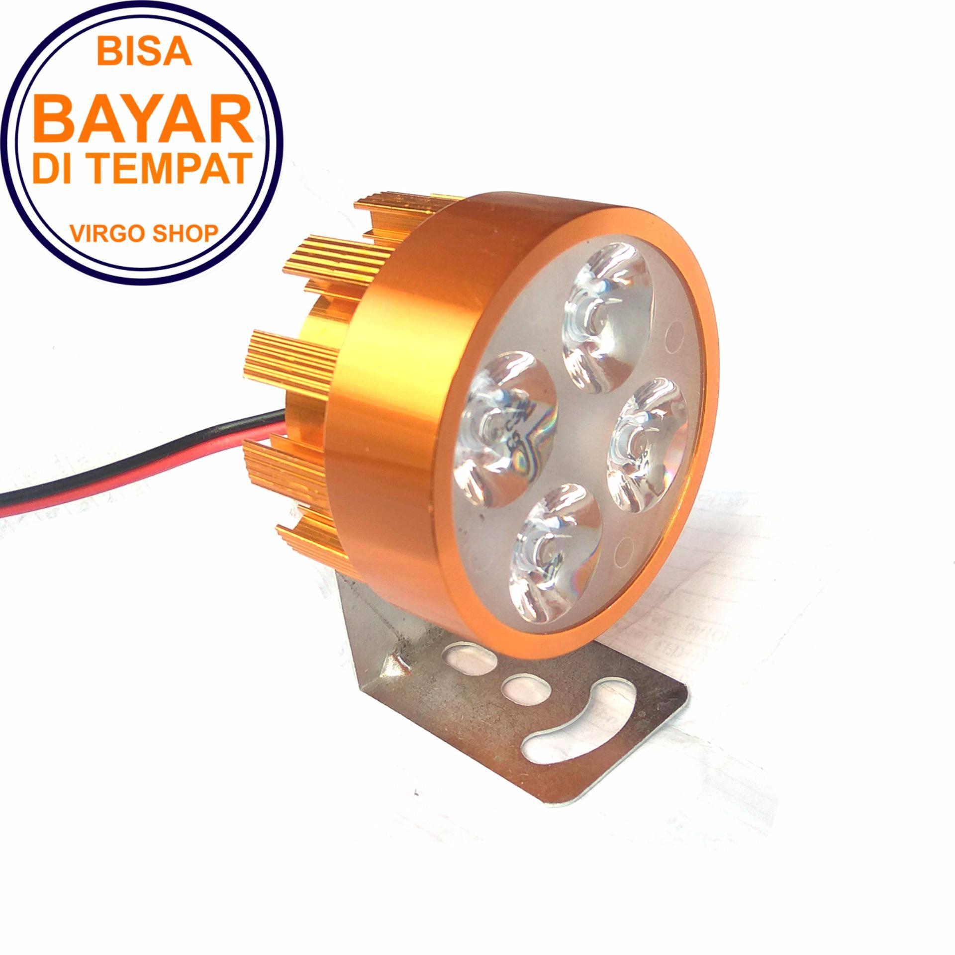 Lampu Sorot LED 4 Mata Sorot Putih Untuk Lampu Tambahan Penerangan - Gold