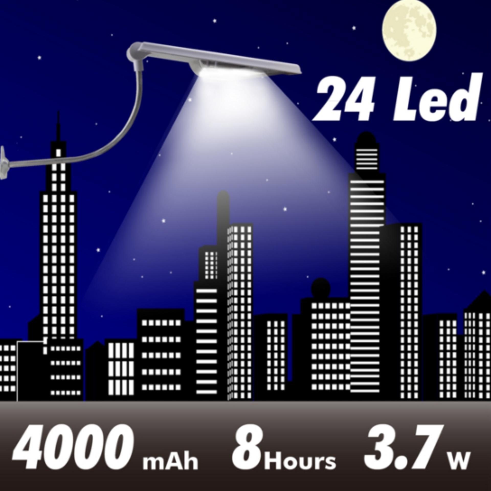 Review Lampu Tenaga Surya Penerangan Jalan Umum Pju 24 Led 400Lm Solar Panel