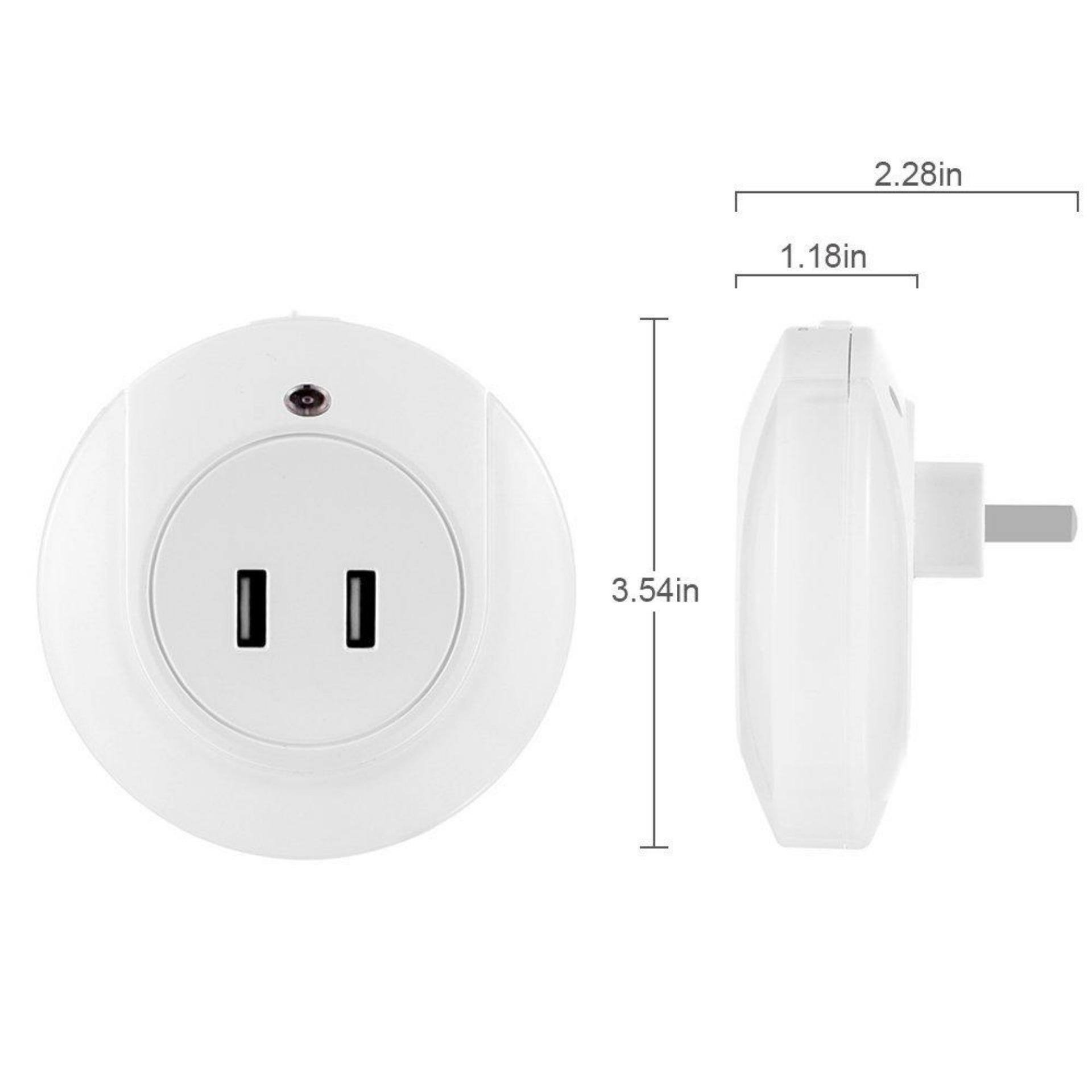 Jual Lampu Tidur Smart Led Dual Usb Charger Untuk Iphone Android Unik Branded