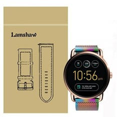 Lamshaw Magnetic Milanese Loop Stainless Steel Magnet Penutup Kunci Band untuk Fossil Q Wander Smartwatch Strap (Milanese_Color) -Intl