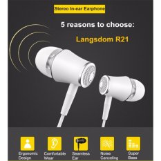 Langsdom Earphone Hansfree Headset Stereo Super Bass With Mic Remote Control For Samsung Xiaomi Oppo R21