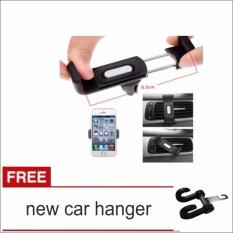 lanjar jaya Holder Besi Hp Gps Pada Ac Mobil / Airvent Universal Mount 1012-hitam +New Car Hanger