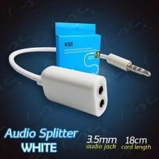 lanjarjaya ElectraBasic Jack 3.5mm Male to Dual Female 3.5mm Headphone Microphone Audio Splitter