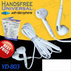 lanjarjaya Handsfree UNIVERSAL POWERFUL BASS Excellent Sound Quality warna random GOODD QUALITY YD-803