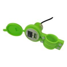 Lanjarjaya New USB Charger Motor Waterproof Cas HP di motor + Clamp / bracket stang motor