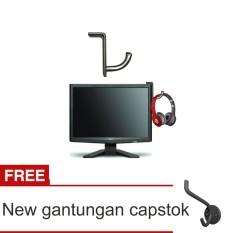 Lanjarjaya Stainless Steel Hanger Headset / Headphone Stand / Gantungan For Gaming + New Gantungan Capstok