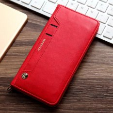 Lantoo IPhone 6 Plus/6 S Plus Case, Kulit IPhone 6 Plus/6 S Plus Dompet Desain Buku dengan Flip Cover And Stand [Kartu Kredit Slot] Penutupan Penutupan Magnetik untuk Apple IPhone 6 Plus/6 S Plus-merah-Intl