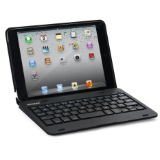 LAPTOP A Bluetooth Keyboard Case untuk Apple IPad Mini 1/2/3 (Hitam)-Intl