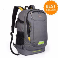 Harga Berkapasitas Besar Multifungsi Tas Kamera Photo Backpack Grey Terbaru