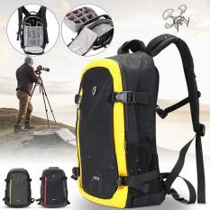 Kamera Anti-Air Besar Ransel Bahu Tas Laptop DSLR untuk Canon Sony Kuning-Internasional