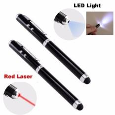 Laris 102 - 4 in 1 Stylus Capacitive Touch Pen + Ballpoint + Laser Pointer -