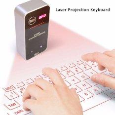 Toko Laser Proyeksi 560 Nirkabel Keyboard Bluetooth Keyboard Hitam Dan Putih Intl Tiongkok