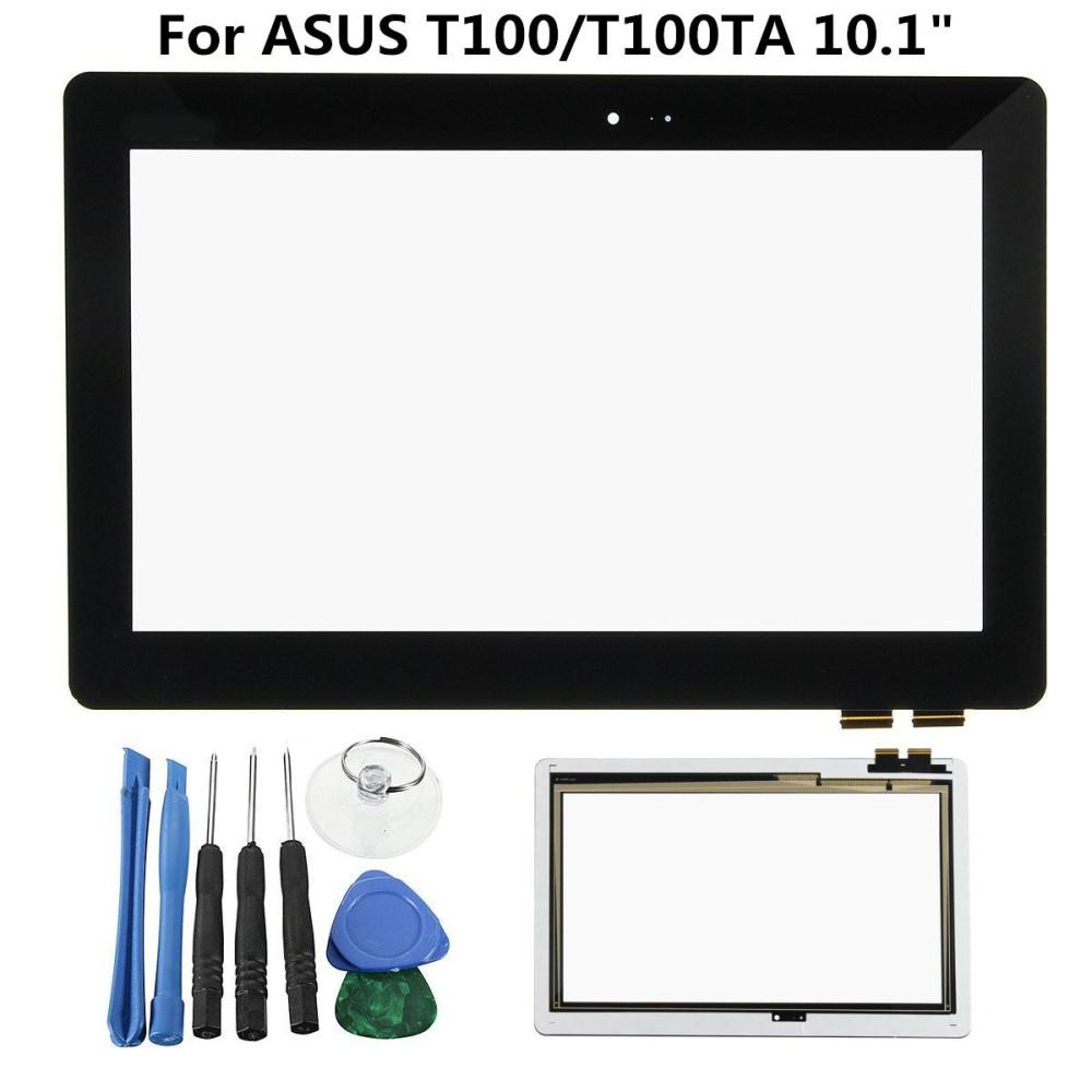 Layar Sentuh Digitizer Penggantian Kaca + Alat untuk ASUS T100 T100TA 10.1 ''Tab-Hitam-Intl