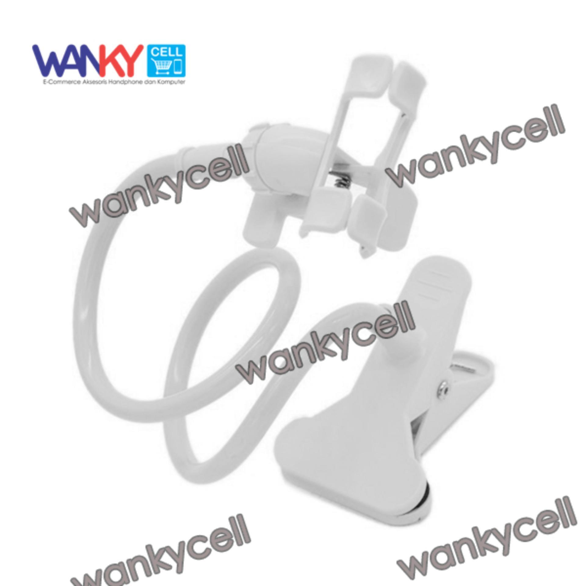 Jual Lazypod Penyangga Smartphone Mobile Jepsis Jepitan Narsis Putih Ori