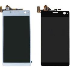 LCD untuk Sony C4 E5303 E5306 E5333 E5343 E5353 E5363 Ponsel LCD (Hitam, Putih, Layar Sentuh) (Free + 3 M Tape + Membuka Alat Perbaikan + Lem)-Intl