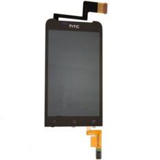 Layar LCD Lengkap Layar LCD Display Bagian Penggantian Layar Sentuh Hitam untuk HTC One VX