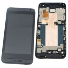 lcd screen with frame Complete Screen lcd display touch screen assembly replacement parts grey for htc desire 610 d610
