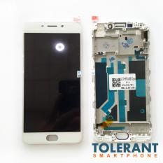 LCD + Touchscreen + Frame Layar Sentuh Oppo F1 Plus White