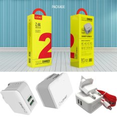 Toko Ldnio A2203 Premium Quality Charger Adapter Wall Charger Fast Charging Auto Id 2 Port 2 4A Putih Gratis Kabel Charger Micro Usb Online
