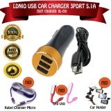 Diskon Besarldnio Car Fast Charger Mobil 3 Port 5 1A Dl C50 Usb Hitam Bonus Car Holder Xt 028 Kabel Charger Micro Led Usb