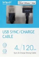Daftar Harga Le Touch 30Pin Cable Mfi Colourful Sync Charge 1 2 Meter Hitam Le Touch