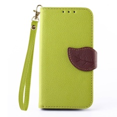 Leaf Pattern PU Leather Wallet Type Magnet Design Flip Stand Case for LG Optimus L90 / LG D405