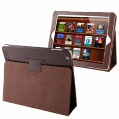 Leather Case Dengan Fungsi Sleep Untuk iPad 2/3/4 s2445 - Coklat