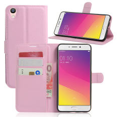 Leather Case Flip Stand Cover untuk OPPO R9/OPPO F1 Plus (Pink)-Intl