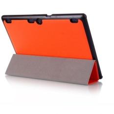 Leather Case Stand Cover untuk LENOVO TAB3 10 Bisnis ATAU-Intl
